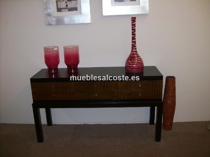 Consola estilo madera acabado madera cod 13101 liquidacion - Muebles vizcaya liquidacion ...