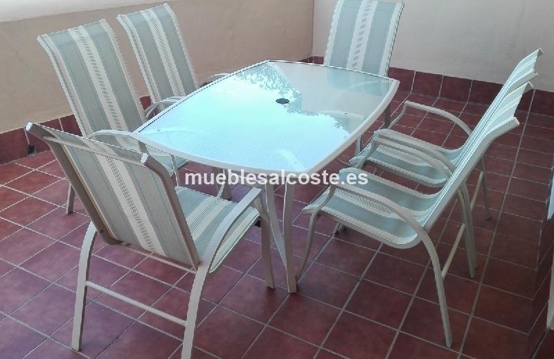 Mesa y 6 sillas de exterior 18893 segunda mano - Sillas y mesas exterior ...