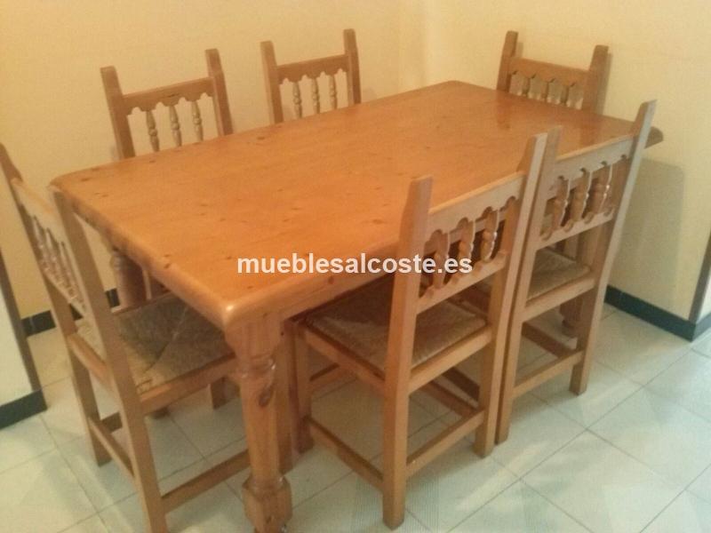 Mesa de comedor de madera de pino cod:19127 segunda mano ...