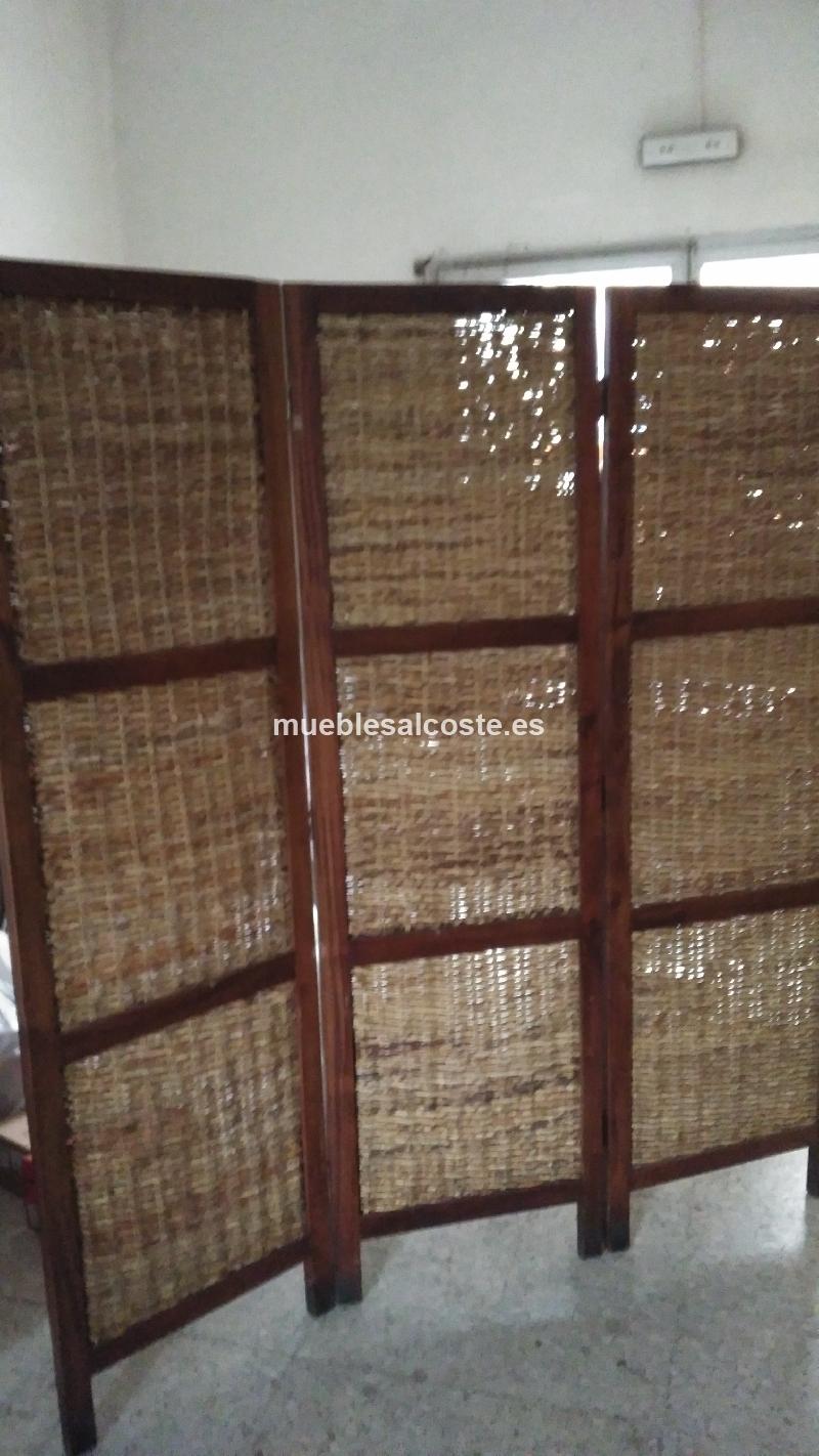 Biombo madera estilo igual foto acabado igual foto cod for Biombos oficina segunda mano