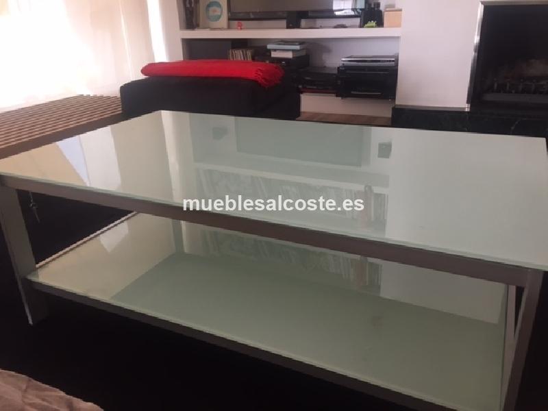 Mesa de centro cristal elevable cod 19313 segunda mano for Mesa cristal segunda mano