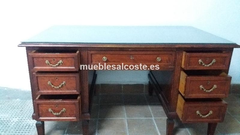 Mesa de escritorio de madera noble cod 19428 segunda mano - Garajes de madera de segunda mano ...