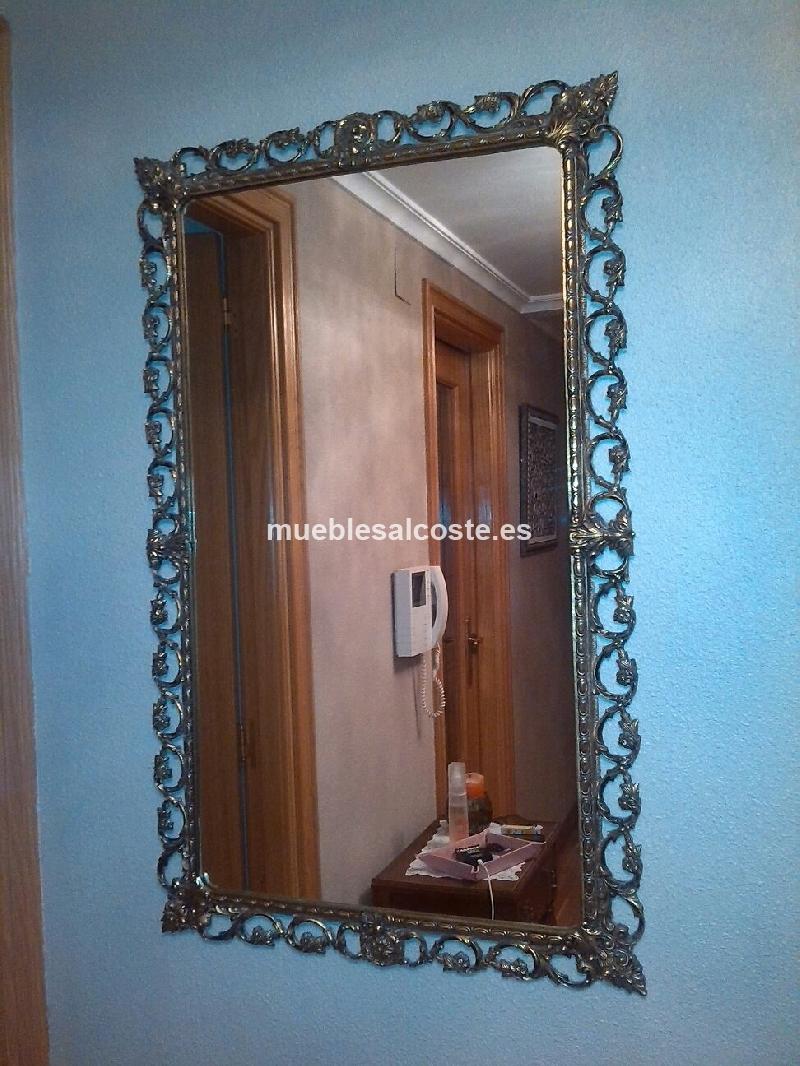 espejo bronce macizo cod 19485 segunda mano