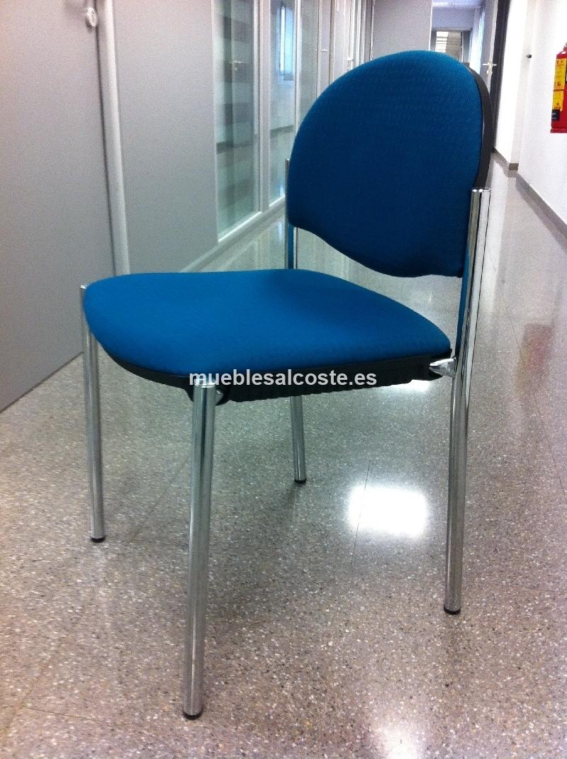 Pack 4 sillas mesa redonda oficina cod 19757 segunda for Mesa oficina segunda mano