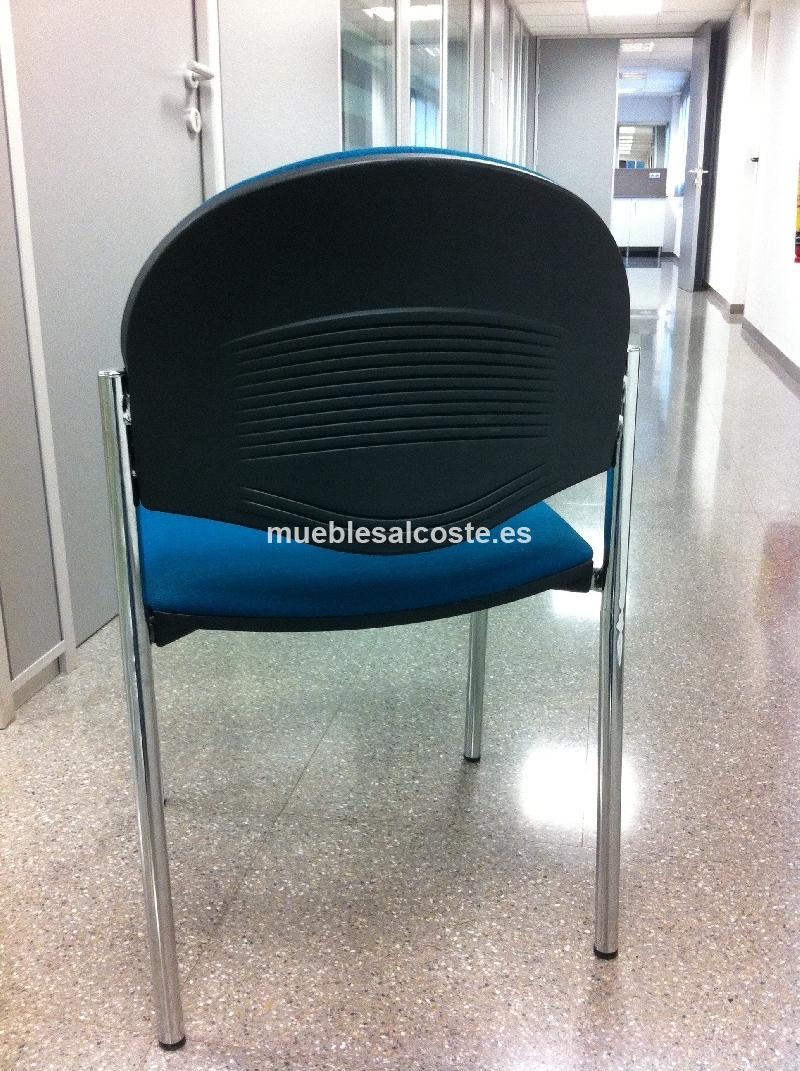 Pack 4 sillas + Mesa redonda (Oficina) cod:19757 segunda mano ...