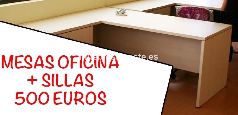 2 Mesas + 2 Sillas de Oficina cod:19758 segunda mano, Mueblesalcoste.es