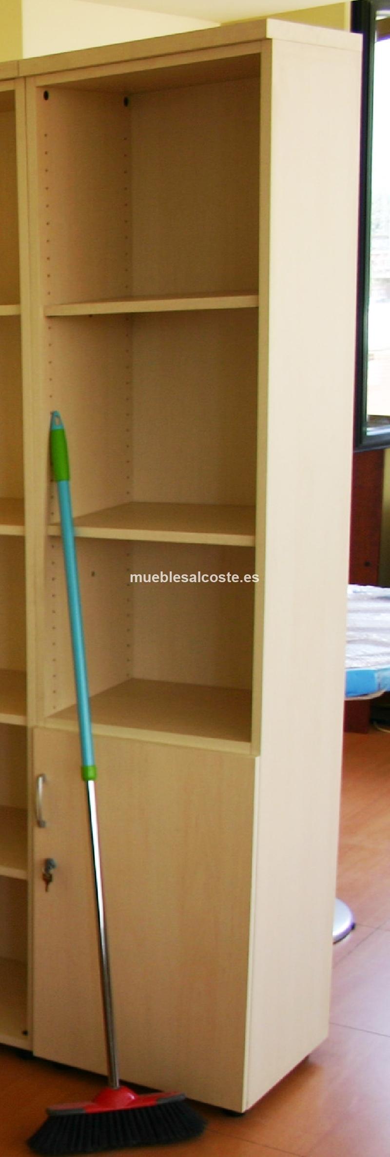 Armario estanteria oficina con puerta inferior 45x45cm cod 19762 segunda mano - Armario estanteria ...