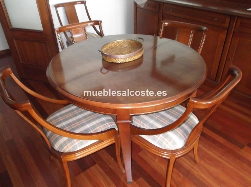 Mesa comedor extensible y seis sillas cod:19530 segunda mano,  Mueblesalcoste.es