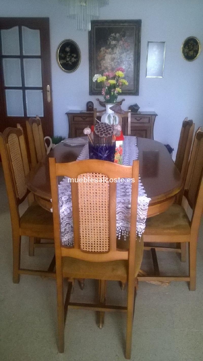 Mesa de comedor y sillas madera de haya cod 19533 segunda for Mesa y sillas comedor segunda mano