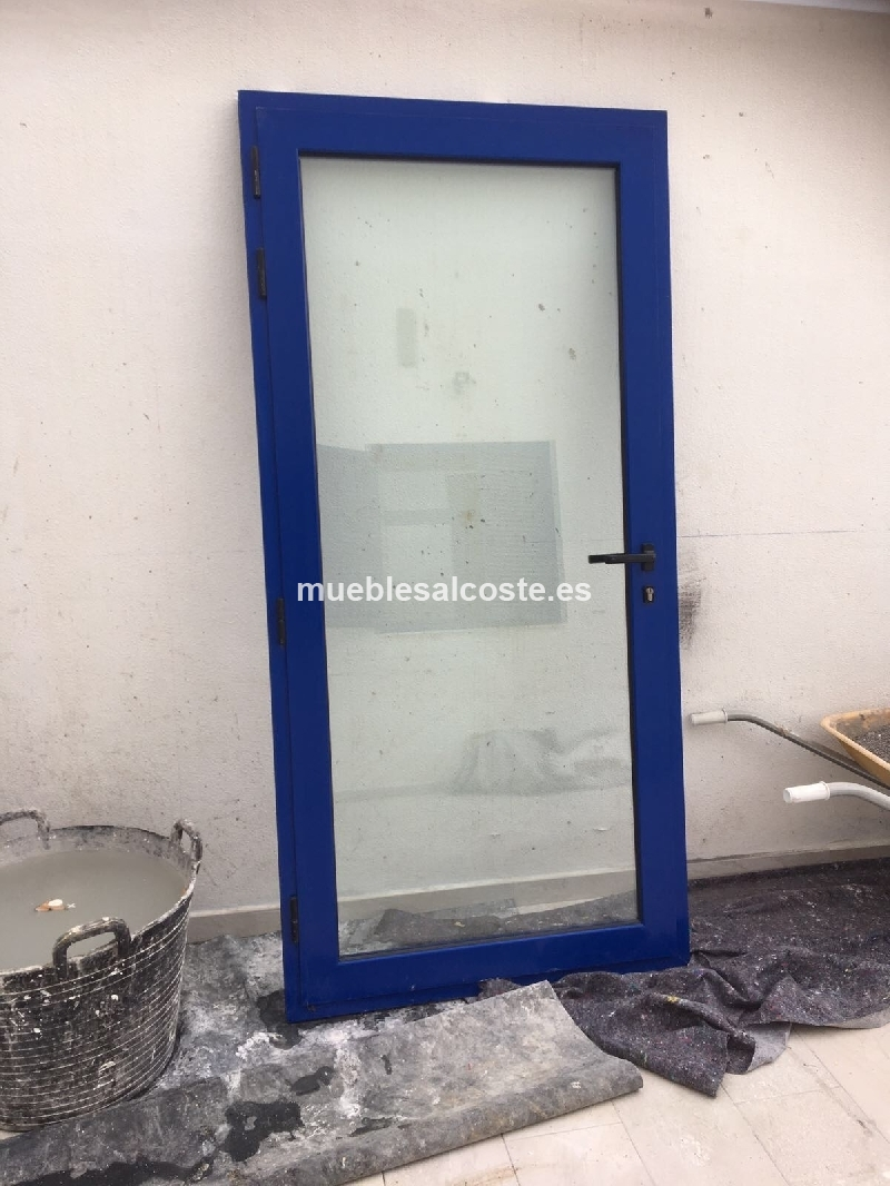 Puerta aluminio con cristal cod 20880 segunda mano - Puertas de aluminio con cristal ...