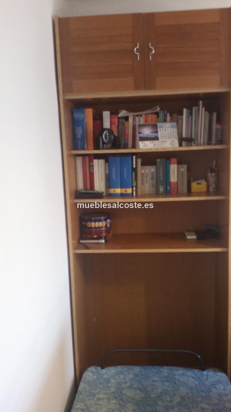 Mueble estanteria con cama abatible cod 19705 segunda mano for Mueble cama abatible
