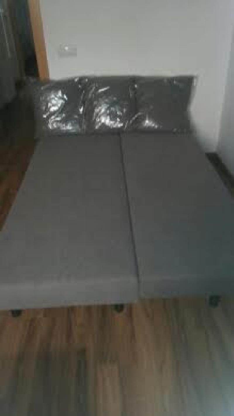 Sofa cama 3 plazas con peque os canape a estrenar cod for Cama 3 plazas