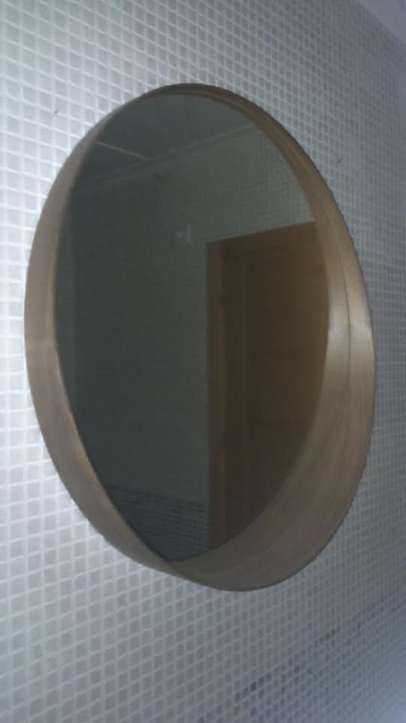 Espejo redondo de madera cod 19717 segunda mano for Espejos redondos de madera
