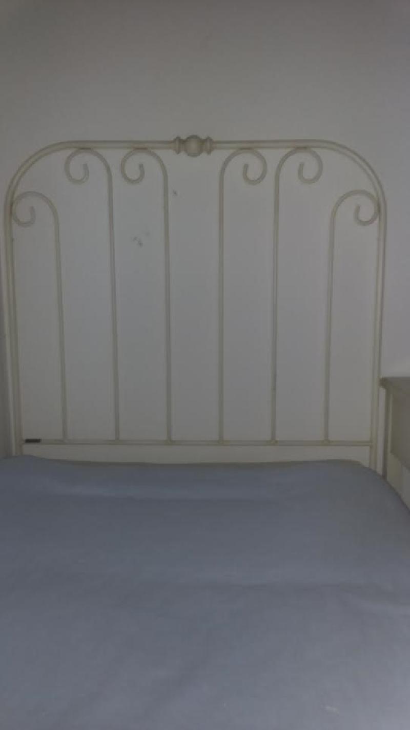 Cabecero cama en forma blanco roto 90 cms cod 19719 - Cabecero de cama segunda mano ...