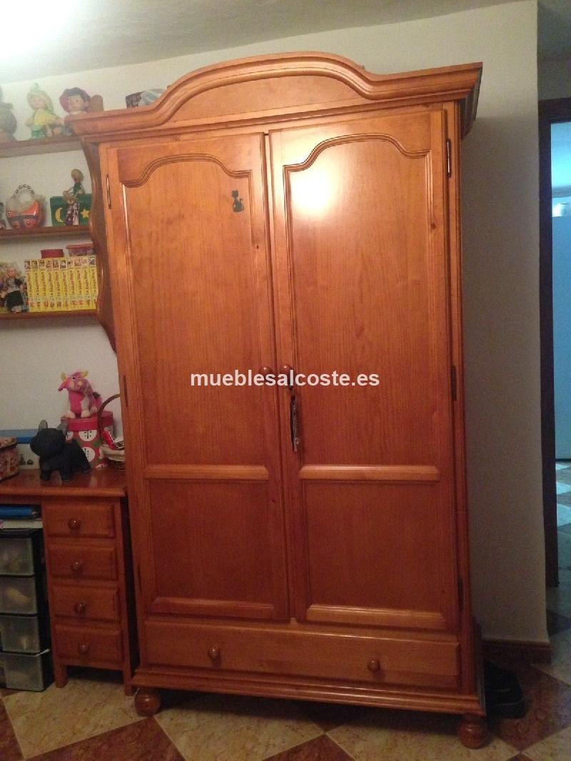 Armario de dos puertas madera cod 19884 segunda mano - Armarios dos puertas ...