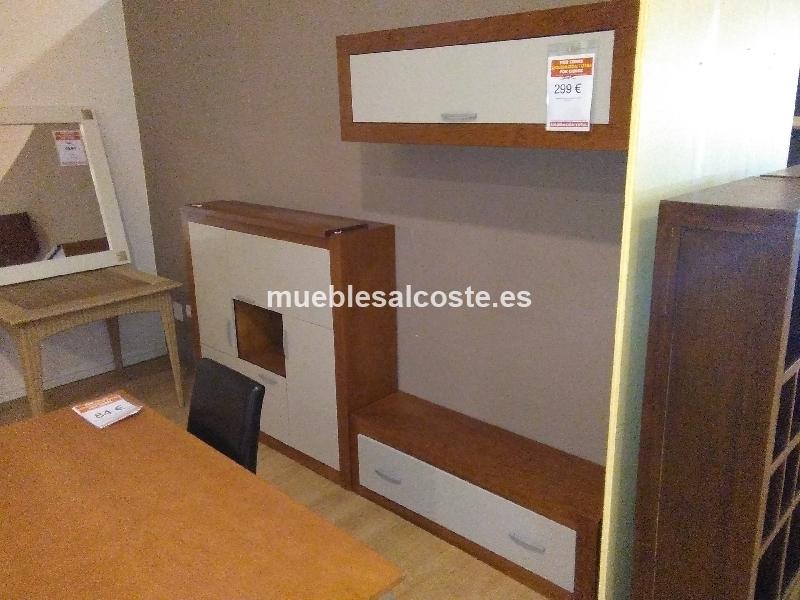 Liquidacion mueble salon madera pino cod 19925 for Muebles oficina baratos liquidacion por cierre