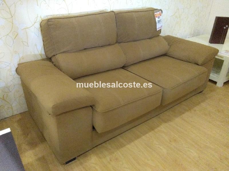Liquidacion sofa 3p tela rustika cod 20113 liquidacion for Sofas tela rustika