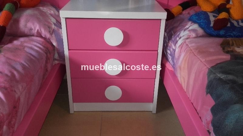 Habitacion nina rosa y blanca cod 20261 segunda mano - Habitacion nina rosa y blanca ...