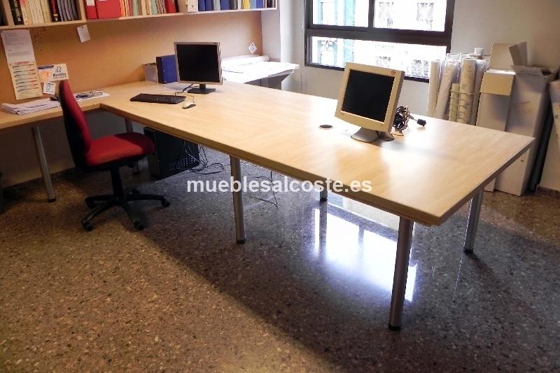 Mesa de oficina cod 20302 segunda mano for Mesas de oficina segunda mano