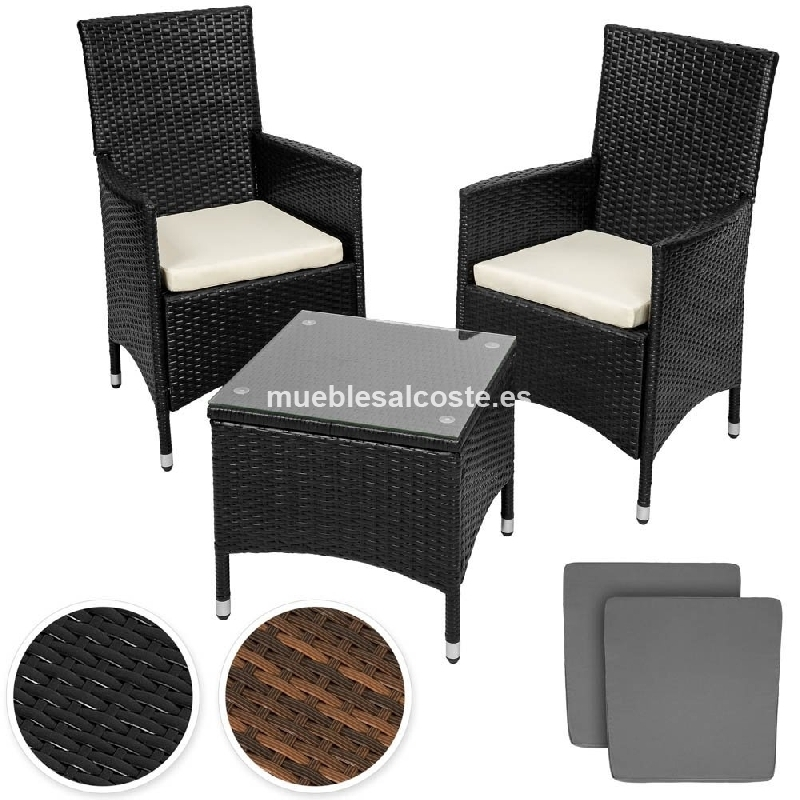 Muebles de jardin en aluminio y poly ratan cod 20388 for Muebles jardin aluminio