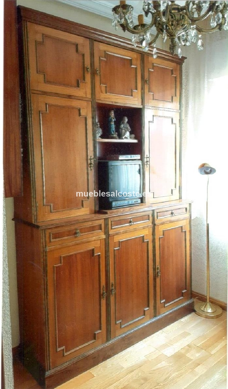 Mueble aparador salon marqueteria cod 20520 segunda mano - Muebles salon segunda mano malaga ...