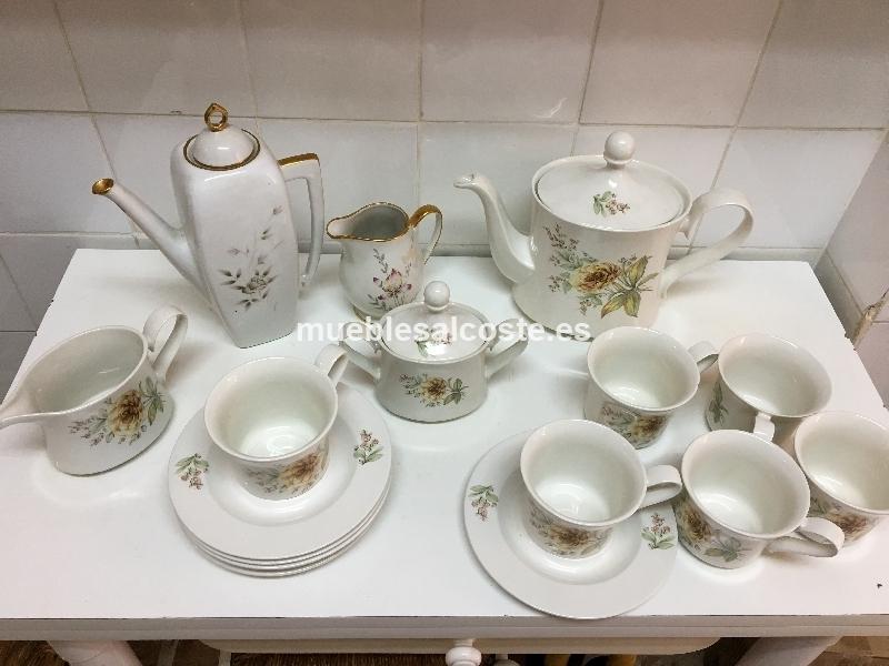 vajilla de cafe en porcelana con ribete en oro cod 20541