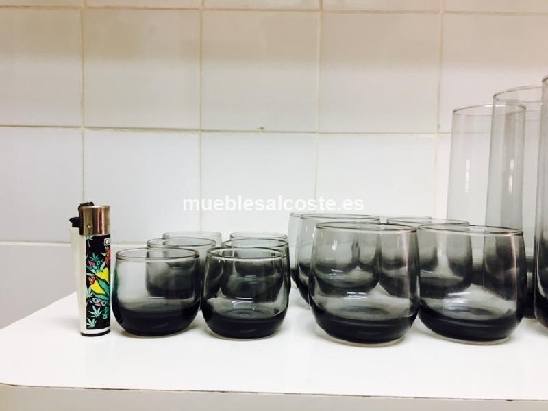 Juego vasos cristal estilo vintage cod 20542 segunda mano - Vasos grandes cristal ...