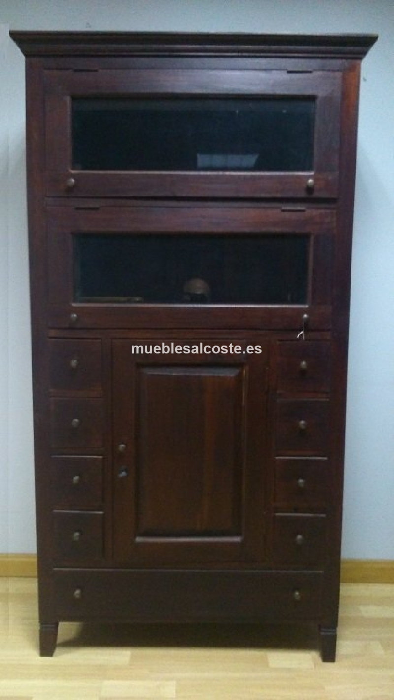 Mueble salon alacena rustico antiguo cod 20584 segunda for Mueble alacena