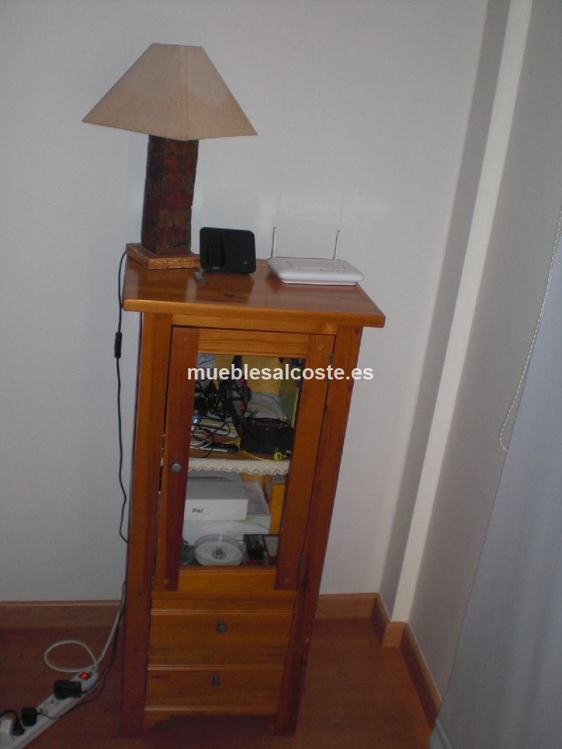 Conjunto 5 muebles de salon madera pino cod 11581 segunda - Muebles salon madera ...
