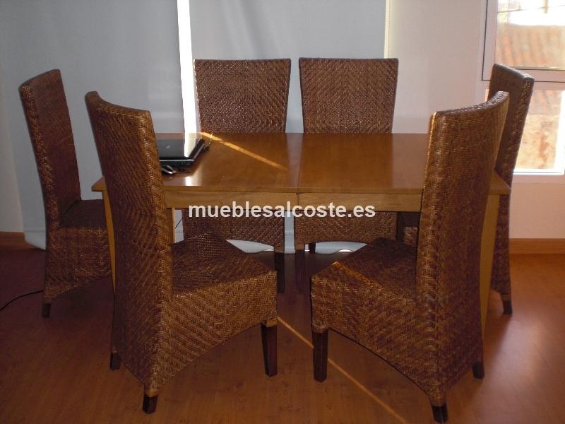 Segunda Mano Las Palmas Muebles : Mesa madera y seis sillas cod segunda mano
