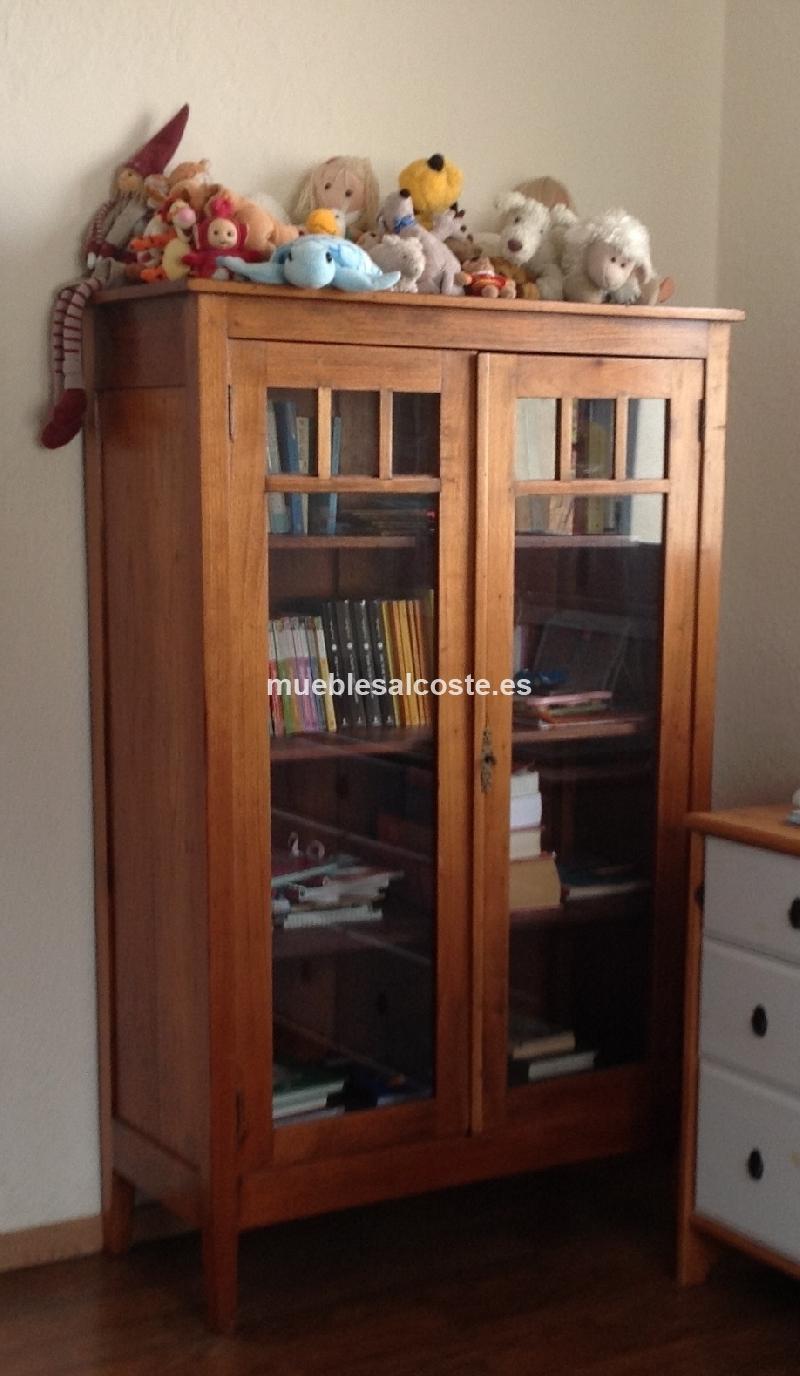 Vitrina Librero Antiguo En Madera De Cedro Cod 11593 Segunda Mano  ~ Vender Muebles Segunda Mano Barcelona