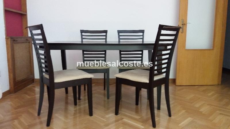 Mesa comedor y 4 sillas cod 20978 segunda mano for Mesa y sillas comedor segunda mano