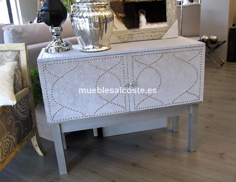 Mueble auxiliar tapizado en microfibra cod 11608 segunda for Muebles auxiliares segunda mano