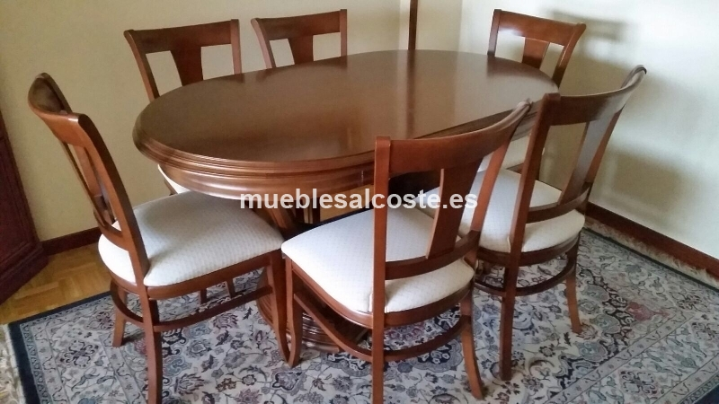 Urge vendo mesa de salon con 6 sillas cod 21002 segunda for Mesas y sillas salon