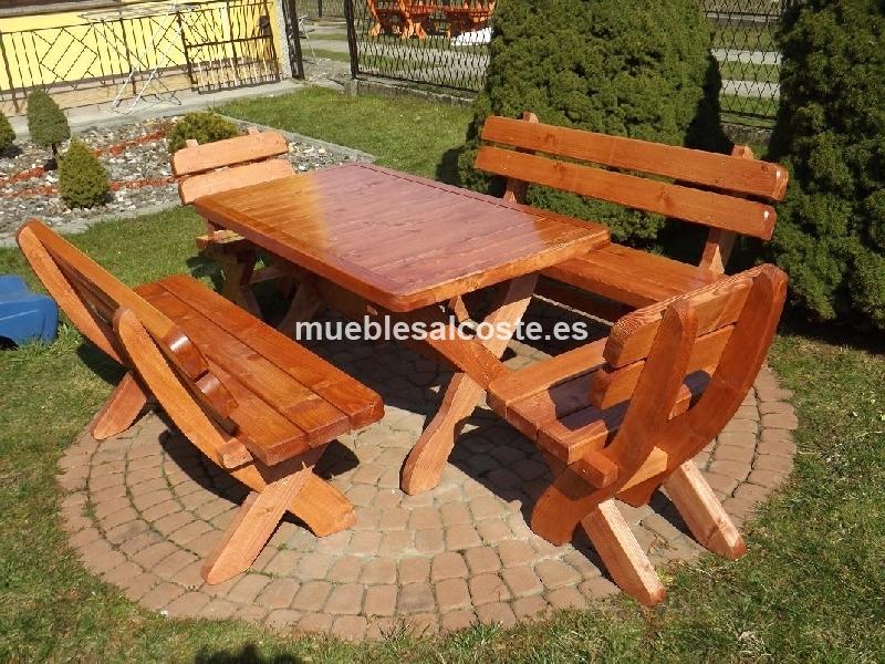 muebles jardin madera cod 21046 segunda mano