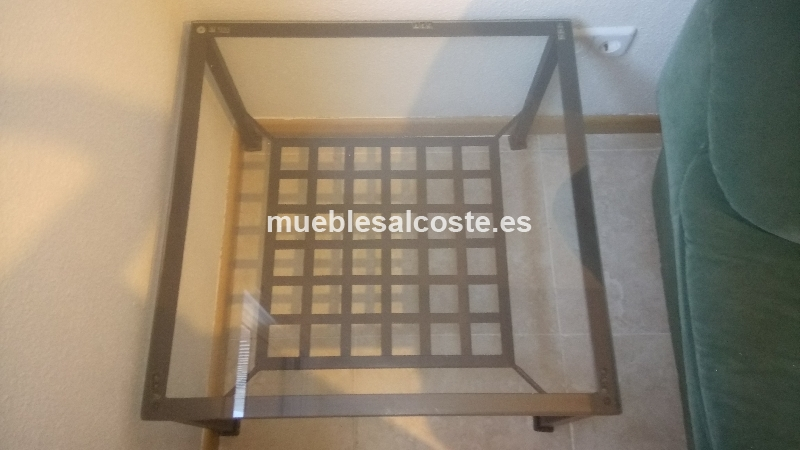 Mesa de cristal y forja cod 21195 segunda mano for Mesa cristal segunda mano