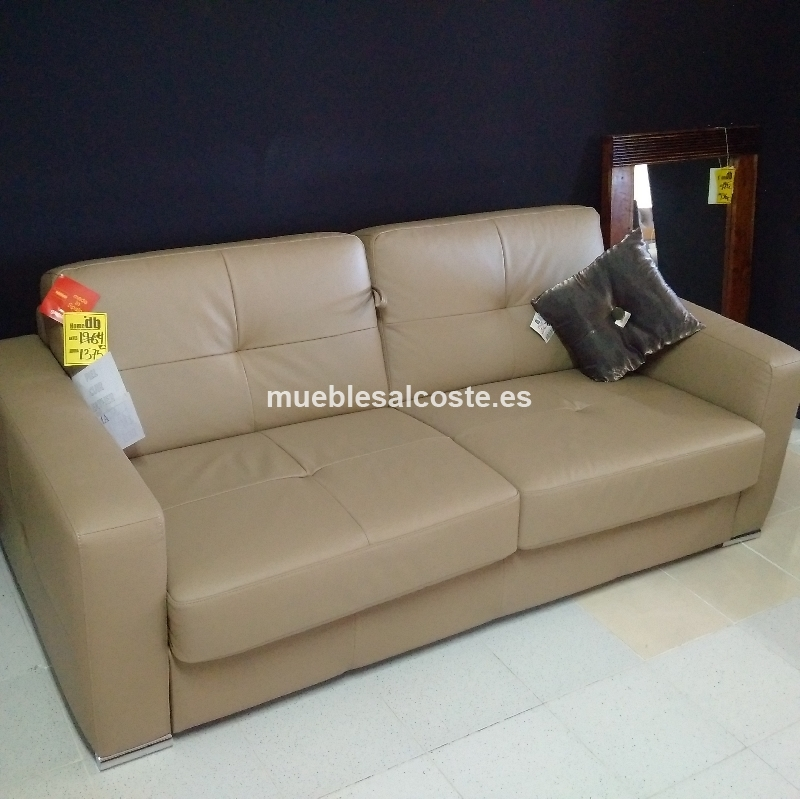 Sofa cama matrimonio piel cod 21327 segunda mano for Sofas alicante liquidacion
