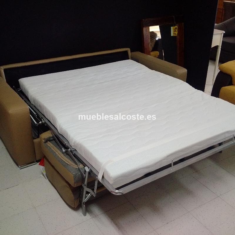 sofa cama matrimonio piel cod 21327 segunda mano