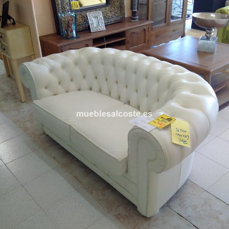 Sofa chester piel 100 cod 21340 segunda mano - Sofas chester piel ...