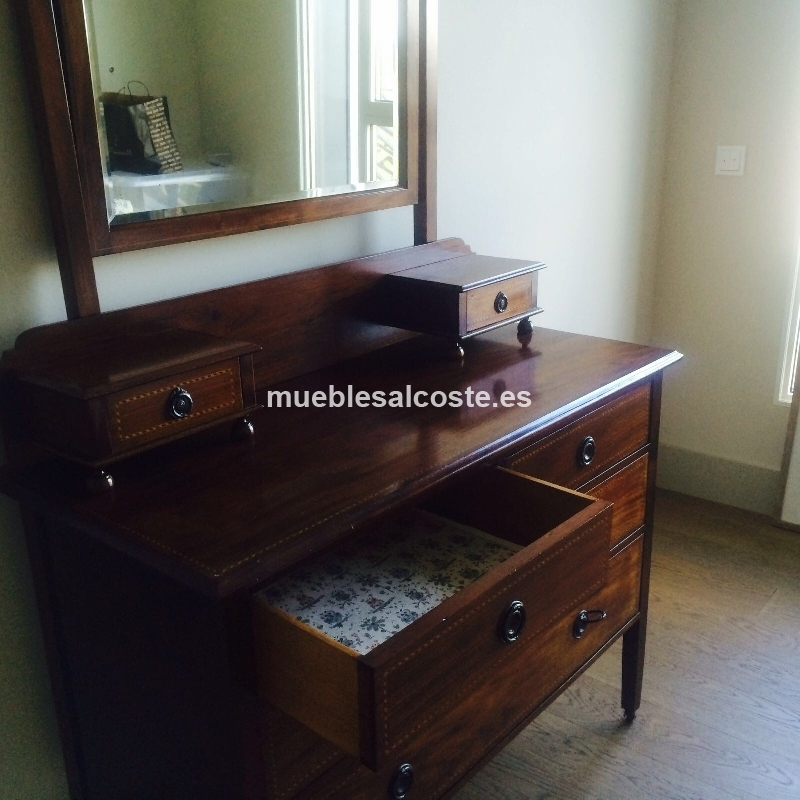 Mueble tocador antiguo en perfecto estado cod 21670 - Mueble antiguo segunda mano ...