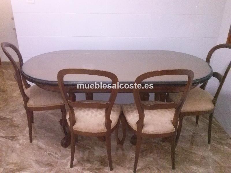 mesa y sillas de salon comedor y de regalo el cristal de