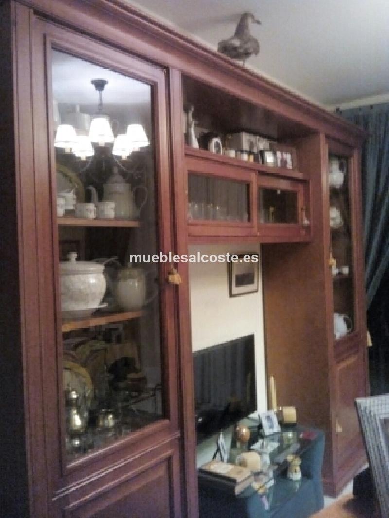 Mueble salon madera maciza cerezo cod 21790 segunda mano for Mueble salon segunda mano