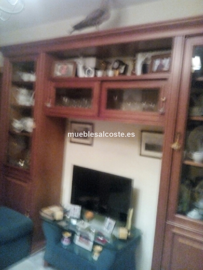 Mueble salon madera maciza cerezo cod 21790 segunda mano - Muebles salon alicante ...
