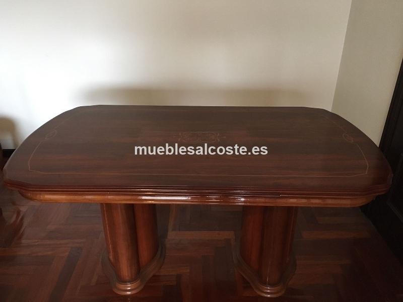 Mesa salon roble con 6 sillas cod 22247 segunda mano - Mesa salon roble ...