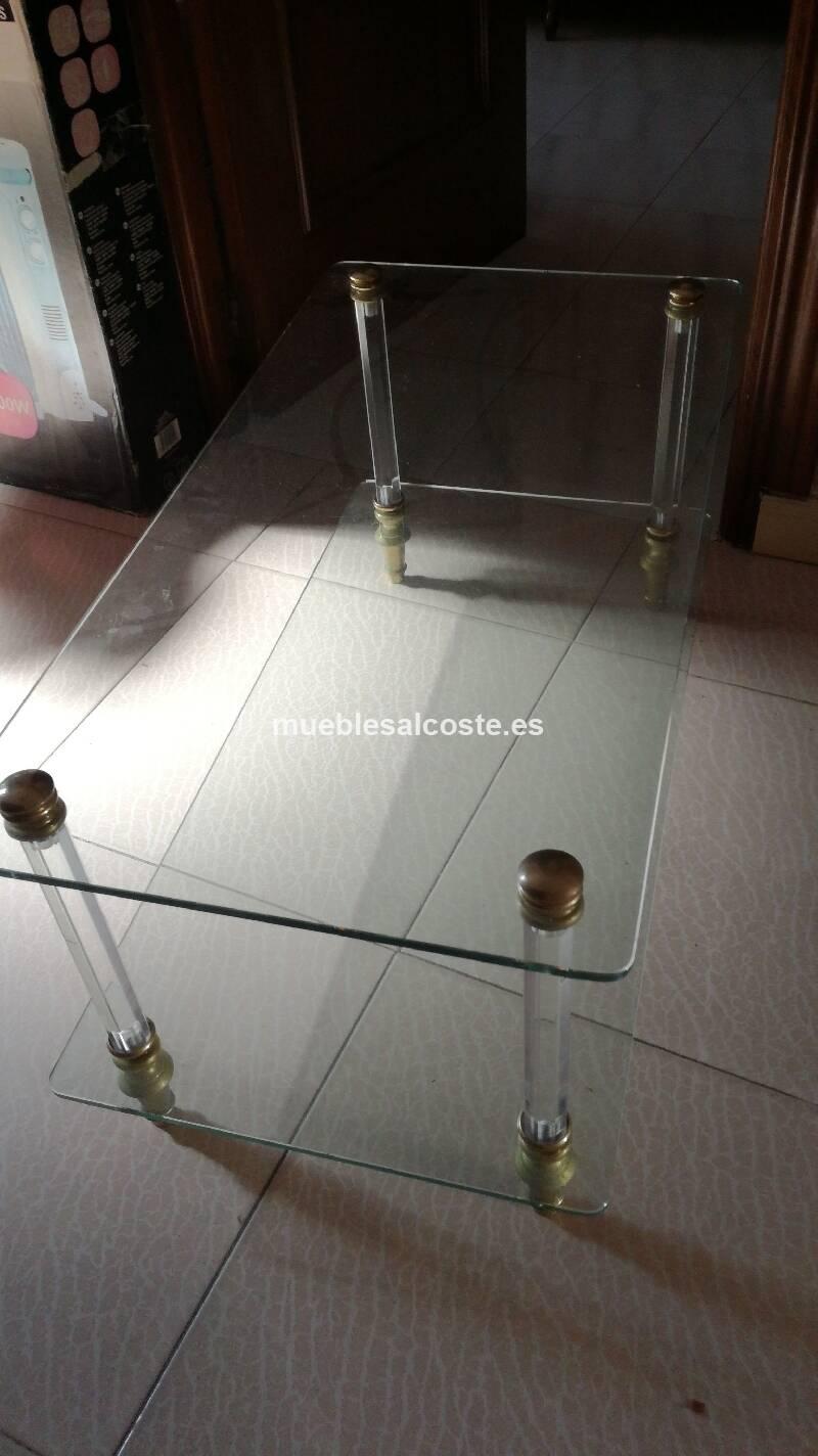 Mesa de cristal cod 22399 segunda mano for Mesa cristal segunda mano