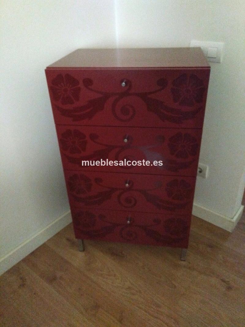 Mueble rojo de diseno cajonera cod 22578 segunda mano - Mueble salon rojo ...