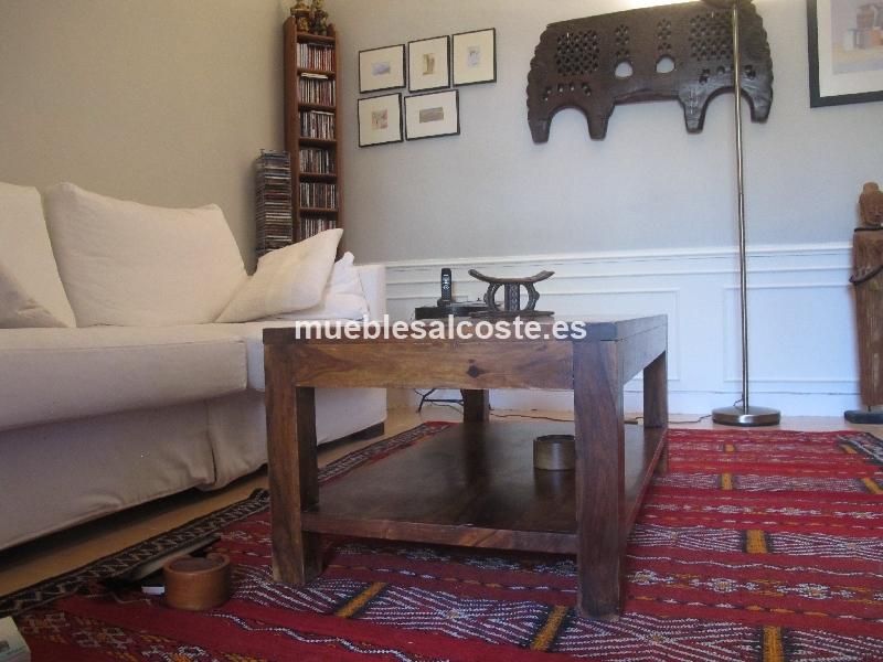 Mesa de salon madera cod 11672 segunda mano - Mesa salon madera ...