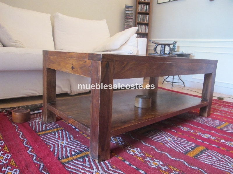 Mesa de salon madera cod 11672 segunda mano for Mesa salon madera