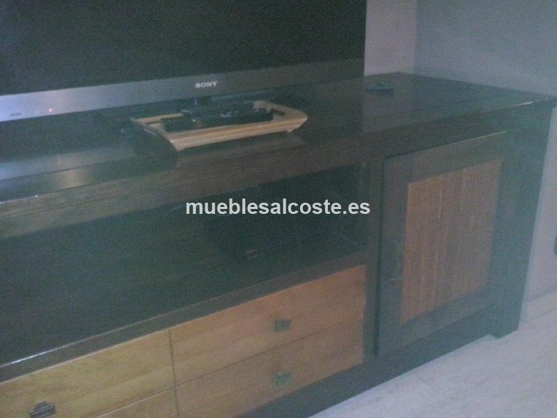 Mueble Tv Estilo Moderno Acabado Madera Cod 11680