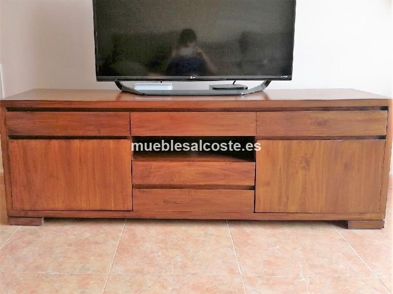 Mueble tv madera teca cod 22713 segunda mano for Muebles madera teca